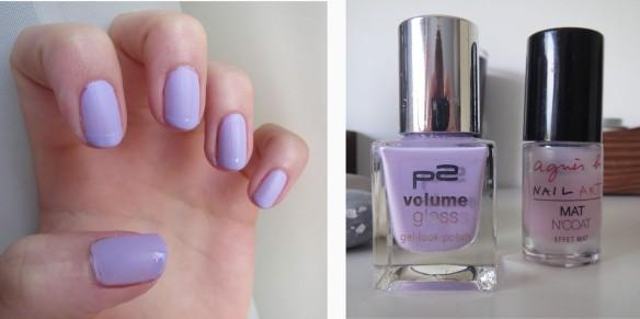 nail art violet
